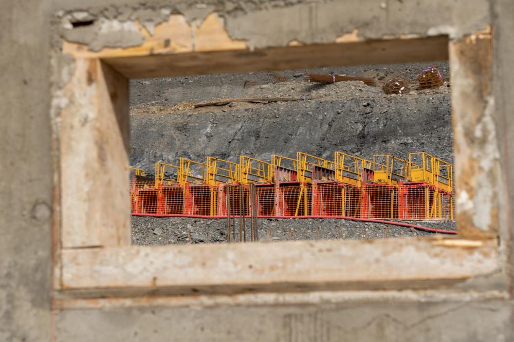 Ensemble de banches Sateco sur le chantier du Club Med de la Rosière, dans les Alpes