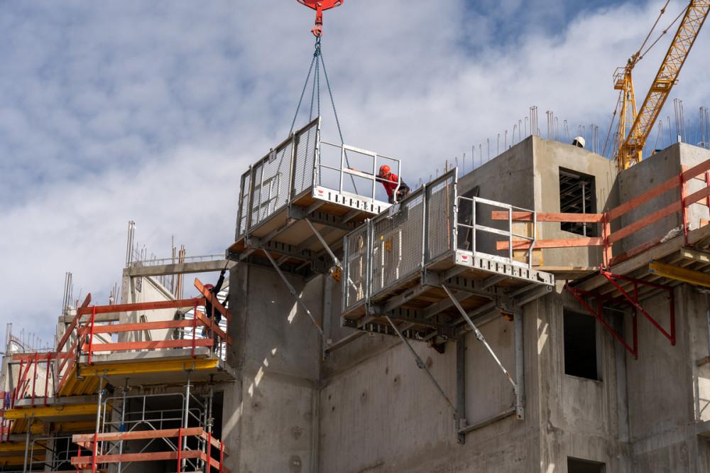 Construction d'un Club Med à la Rosière dans les Alpes